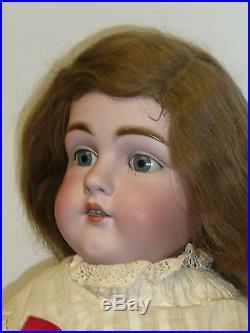 Beautiful 28 Kestner 154 withBlue Sleep Eyes, Kid Body, Bisque Arms, German