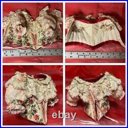 Beautiful Antique Silk 10pc Outfit for 17-18French or German Doll BRU Jemeau