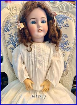 Beautiful Santa Simon Halbig German Antique Bisque Head Doll Blue Sleep 1249 DEP