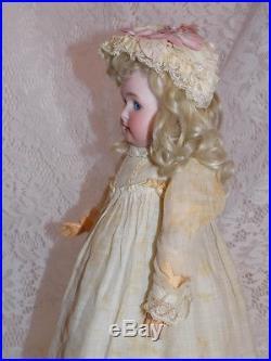 CUTE Antique German Simon & Halbig Cabinet Size 13 1/2 Doll W. S. & K