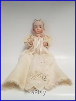C. 1910 11 Gebruder Heubach Bisque Molded Bonnet Baby Stuart Doll Intaglio Eyes
