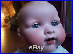DARLING LIFESIZE antique Armand Marseille 351 Rock a bye character baby doll