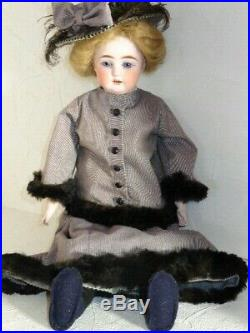 E Heubach German Bisque Shoulder Head Doll 23 Tall