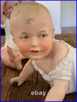 Gebruder Heubach Bisque Porcelain Piano Baby Figurine 12Germany