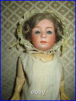 German Antique Doll Gebruder Heubach Pouty Doll Cabinet Size Doll