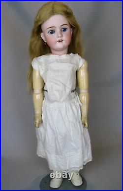 Gorgeous Antique 27 German Bisque head Walkure Doll Lovely Outfit