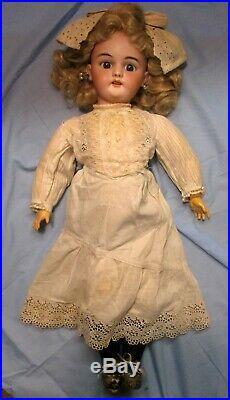 Gorgeous Antique German Bisque Simon & Halbig Doll, 22, Unusual Marks