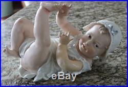 HTF Large Antique 12 Baby Stewart German Bisque Heubach Piano Figurine