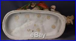 Heubach Victorian Piano Baby A Day at the Beach Lovely Huge bisque figurine 15
