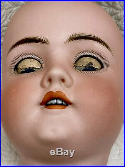 Huge! Beautiful Antique Walkure Kestner German Bisque Doll Head Blue Sleep Eyes