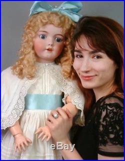 Impressive 36 Simon & Halbig 1249 Santa Antique Doll in Antique Whitewear