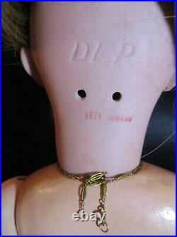 Impressive Antique French Bisque Head Doll DEP TETE JUMEAU 26