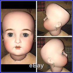LARGE 30 Antique GERMAN Child DOLL Bisque Head KAMMER & REINHARDT
