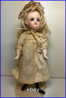 Large Antique German Early Pouty Kestner All bisque Doll, 7 1/2