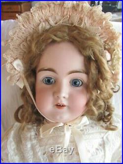 Lg 34german Kestner Doll-bisque Head On Jointed Body-orig Mohair Wig-clothing