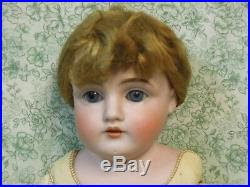 Mz-3 JD Kestner antique doll cork stuffed17 rivet joints honey blonde wig