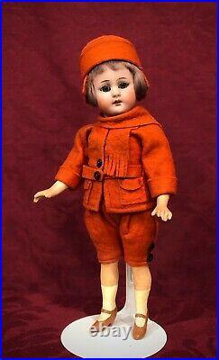 RARE Antique All Original Flapper Boy Bisque Doll by Simon & Halbig