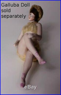 RARE Art Deco Dressel Kister Porcelain Full Body Doll Figurine bathing beauty