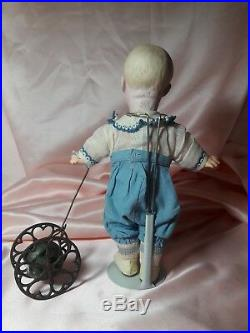 RARE! Real Antique, German Bisque Character #7761 Heubach Spinach Boy 11