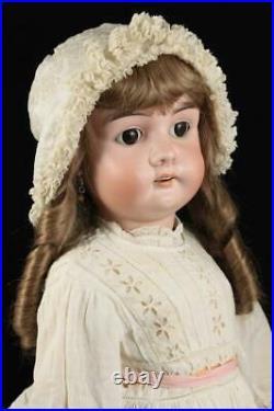 Rare 31 Gebruder Kuhnlenz GbrK 133 Doll Antique German Bisque Head Compo Body