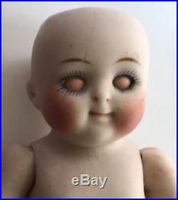 Rare Antique All Bisque German Kestner 111 Googly Googlie Doll Glass Eyes