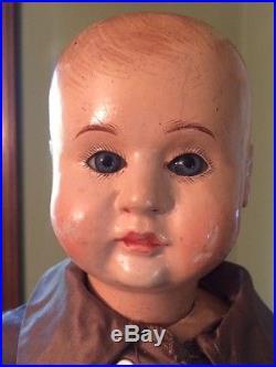 Rare German Bebe Tout en Bois Wooden Doll