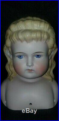 Rare Molded Hair 974 Antique ABG PARIAN BISQUE Doll HEAD Alt Beck Gottschalk 7
