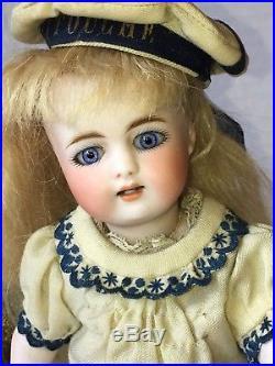 Rare Simon & Halbig 886 All Bisque 9 Doll Coral Stockings