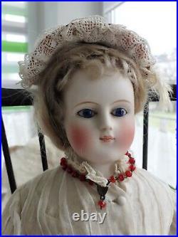 Rare early german Fashion doll, 1860/70 attributed Simon & Halbig