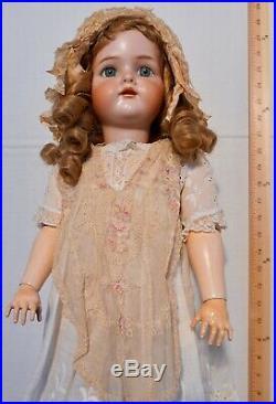 SIMON & HALBIG K&R Antique German Bisque Doll Big 26