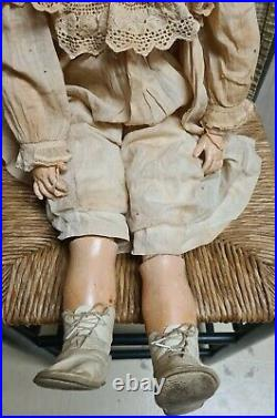 Simon & Halbig 30 Antique Bisque Head Doll Mold #938 Jointed Composition Body