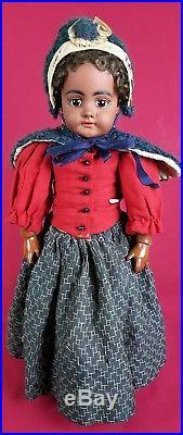 Simon Halbig Antique Girl Doll 739 Mulatto Black Org Wig, Clothes, & Body