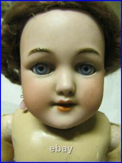 Simon & Halbig S&H Santa Bisque Head Composition Doll 1249 6 16 Blue Sleepy Eye