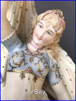 Stunning! Antique KPM Meissen German Bisque Belly Dancer Lady Figurine Dresden