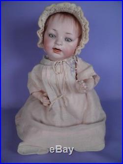 Sweet Antique Character German Bisque Baby Doll Hertel, Schwab & Company #152
