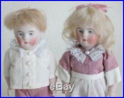 Two 5 All Bisque Kestner Antique Dolls-600 31/2-Boy & Girl Twins