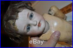 Vintage Germany Girl Doll, Simon & Halbig bisque head, and long body