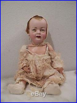 Vintage K & H Kley Hahn Bisque Head Composition Body 625 Germany Doll Chubby