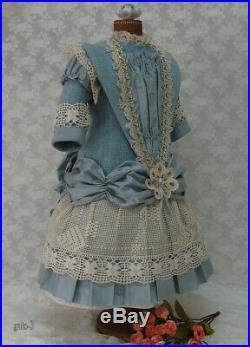 Wonderful dress for antique dolls. French or German dolls. JUMEAU BRU STEINER